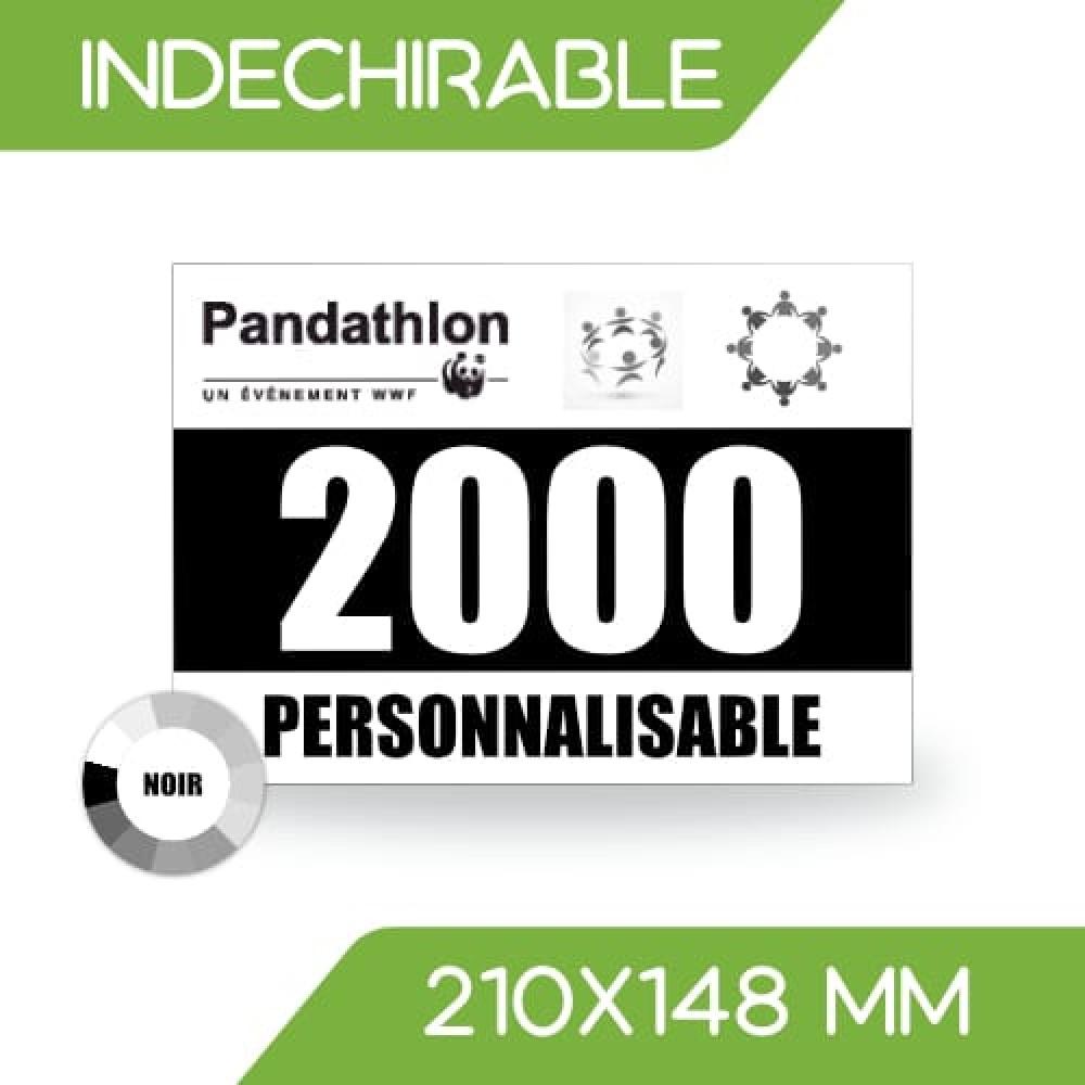 DOSSARD INDÉCHIRABLE NOIR 210x148 mm