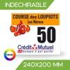 DOSSARD INDÉCHIRABLE COULEUR 240x200 mm