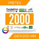 DOSSARD PRÉTEX COULEUR 240x200 mm