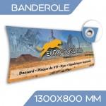 BANDEROLE 130x80 cm